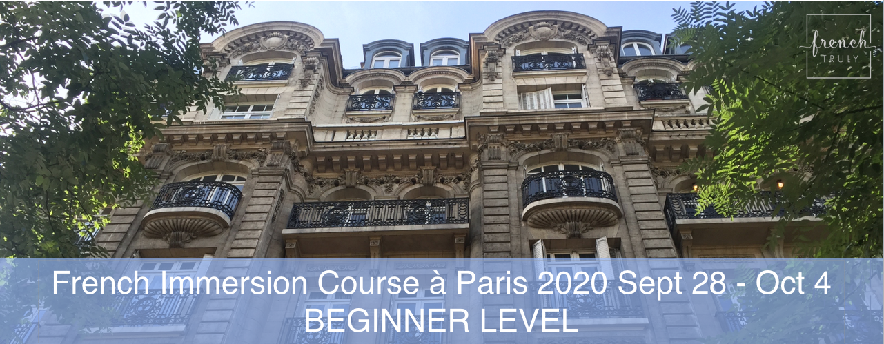 French Immersion Course Paris beginner